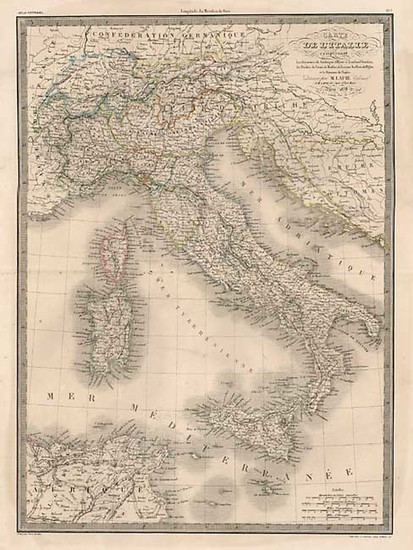 67-Europe, Italy and Balearic Islands Map By Alexandre Emile Lapie