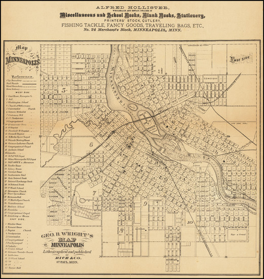 83-Minnesota Map By Geo. Rice & Sons