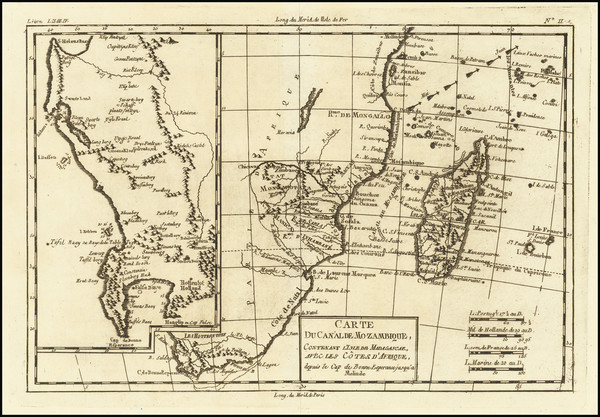 10-South Africa, East Africa and African Islands, including Madagascar Map By Rigobert Bonne
