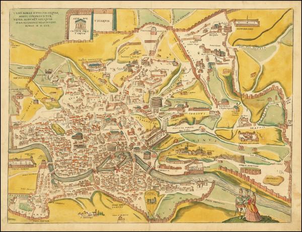 37-Rome Map By Georg Braun  &  Frans Hogenberg
