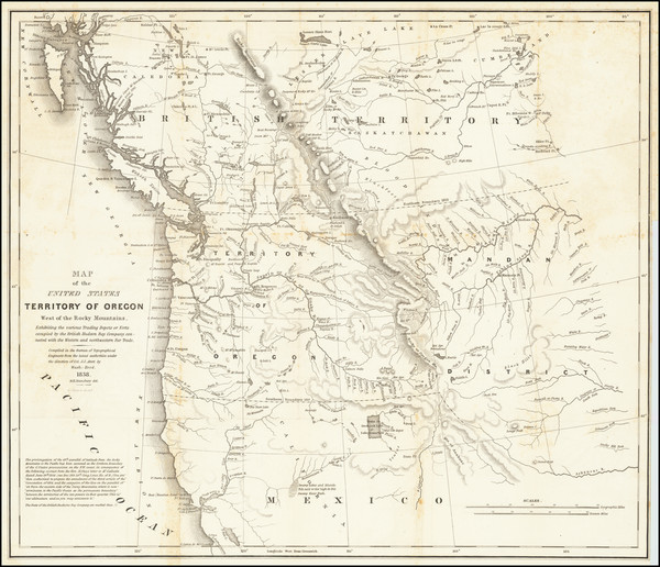 85-Rocky Mountains, Pacific Northwest, Oregon and Washington Map By Washington Hood