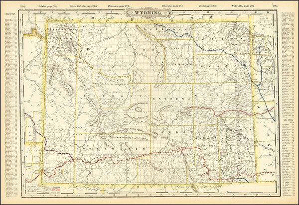37-Wyoming Map By George F. Cram