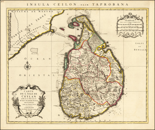 12-Sri Lanka Map By Cornelis Mortier