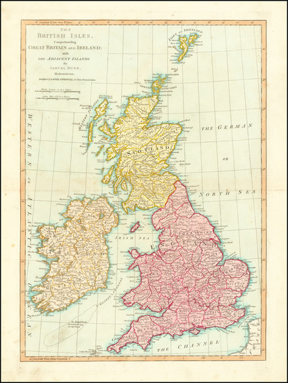 3-British Isles Map By Samuel Dunn