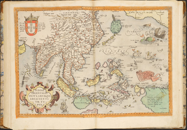 8-Atlases Map By Abraham Ortelius