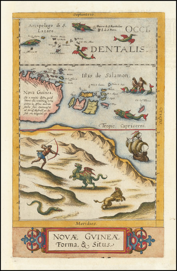 22-Australia and Other Pacific Islands Map By Cornelis de Jode
