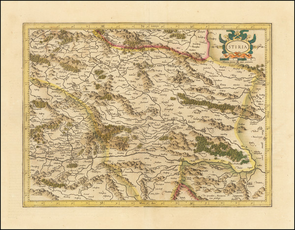 44-Austria and Balkans Map By  Gerard Mercator