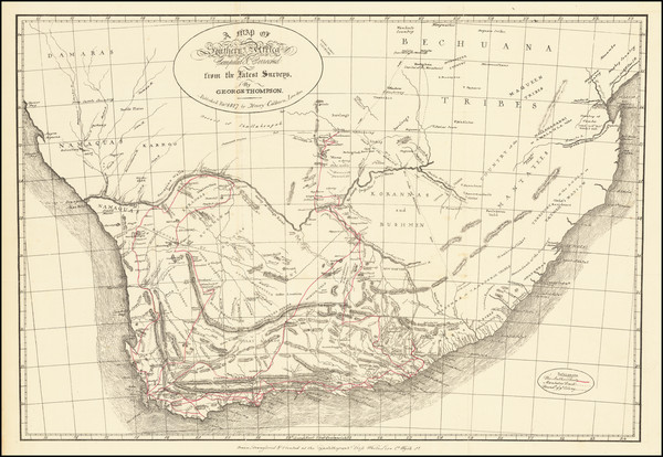 13-South Africa Map By George Thompson