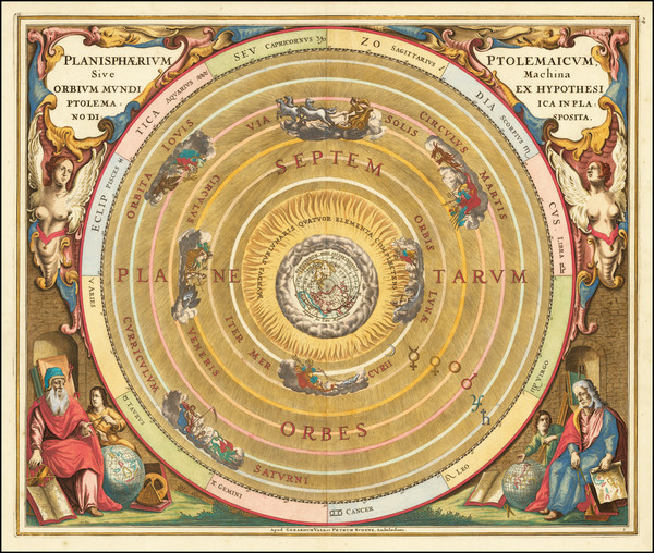 79-Celestial Maps Map By Andreas Cellarius
