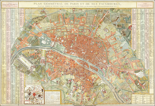 21-Paris Map By Charles Francois Delamarche