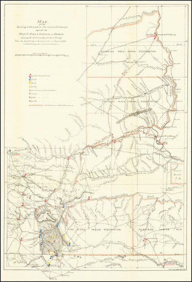 87-Plains, North Dakota and South Dakota Map By Engineers Office, Department of Missouri