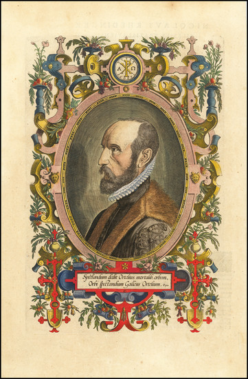 65-Portraits & People Map By Abraham Ortelius
