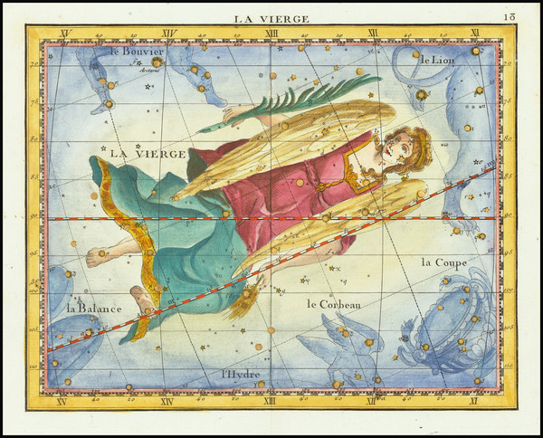 3-Celestial Maps Map By John Flamsteed / MJ Fortin