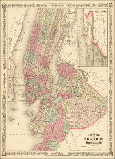 72-New York City Map By Alvin Jewett Johnson
