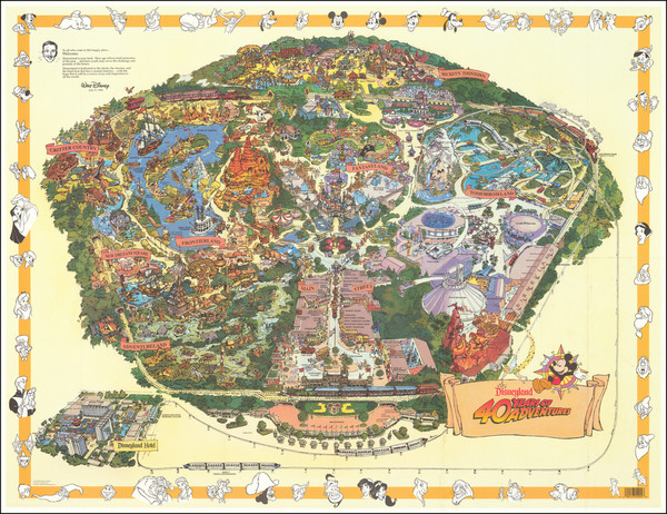 19-Pictorial Maps, California and Other California Cities Map By Walt Disney Productions