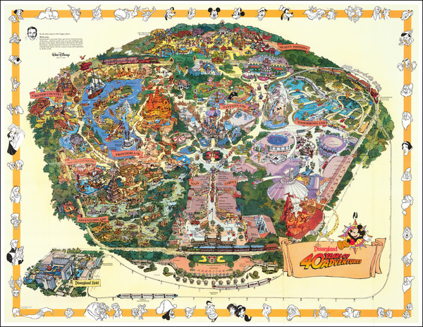 15-Pictorial Maps, California and Other California Cities Map By Walt Disney Productions
