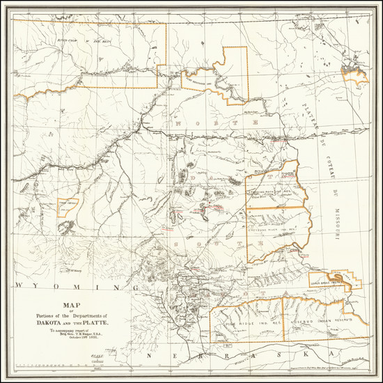 71-North Dakota, South Dakota, Montana and Wyoming Map By United States GPO