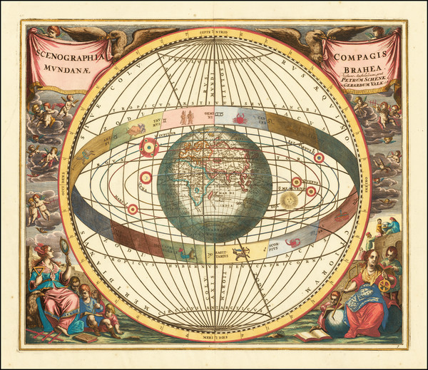 31-World, Eastern Hemisphere, Curiosities and Celestial Maps Map By Andreas Cellarius