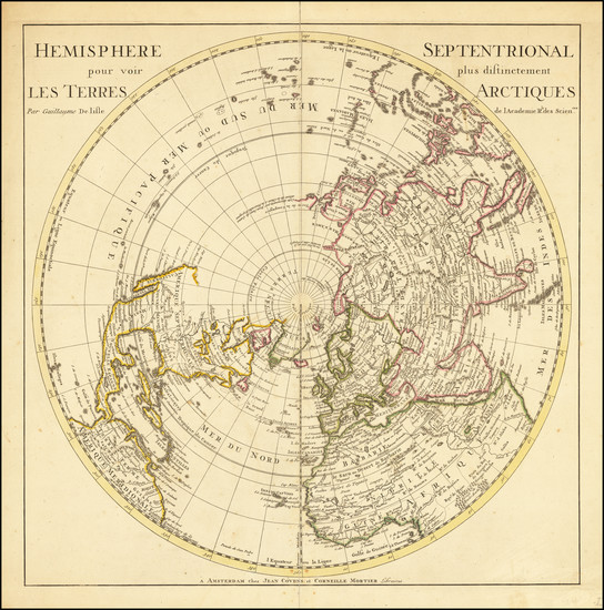 41-Northern Hemisphere and Polar Maps Map By Johannes Covens  &  Cornelis Mortier