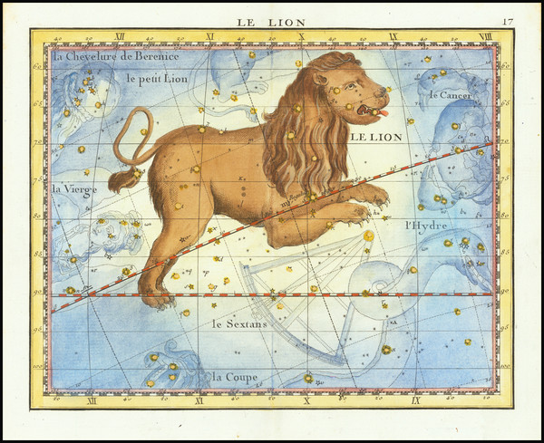 63-Celestial Maps Map By John Flamsteed / MJ Fortin