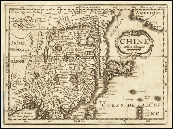 85-China and Korea Map By Martineau du Plessis
