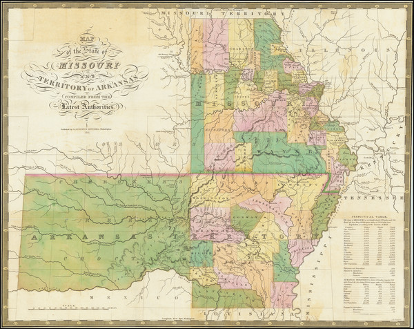 41-South, Arkansas, Plains, Missouri and Oklahoma & Indian Territory Map By Anthony Finley