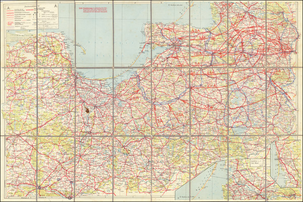 53-Germany, Poland, Baltic Countries and World War II Map By Anonymous