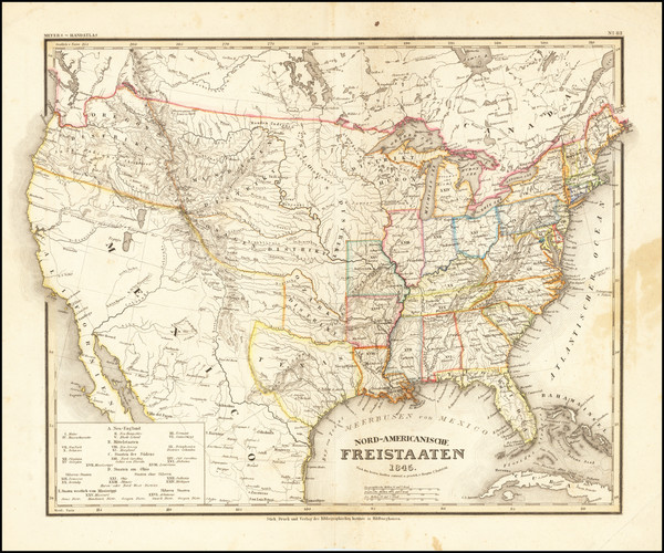 35-United States and Texas Map By Joseph Meyer