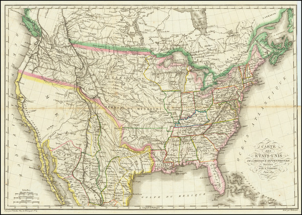 46-United States Map By Pierre  Alexandre Tardieu