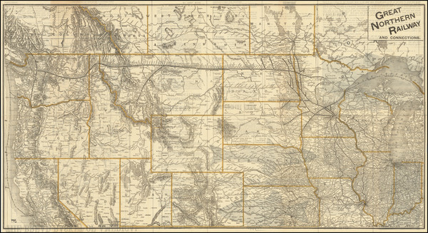 91-Plains, North Dakota, South Dakota, Rocky Mountains, Montana, Wyoming and Pacific Northwest Map
