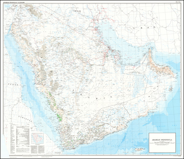 78-Arabian Peninsula Map By Ministry of Defence
