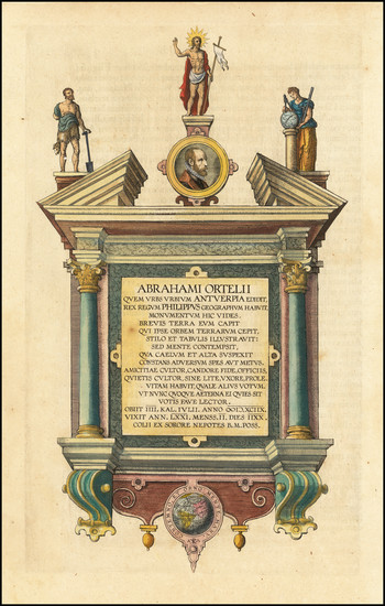 88-Curiosities Map By Abraham Ortelius