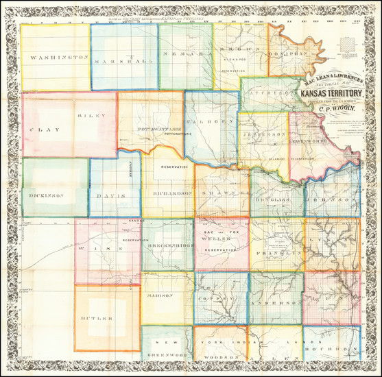 2-Plains and Kansas Map By C.P. Wiggin
