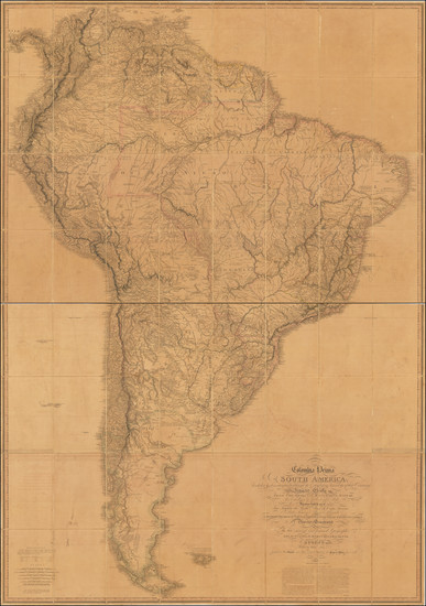82-South America Map By William Faden