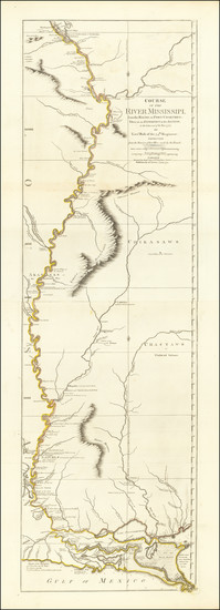 64-South, Louisiana, Midwest, Plains and Missouri Map By Robert Sayer / Lieutenant John Ross