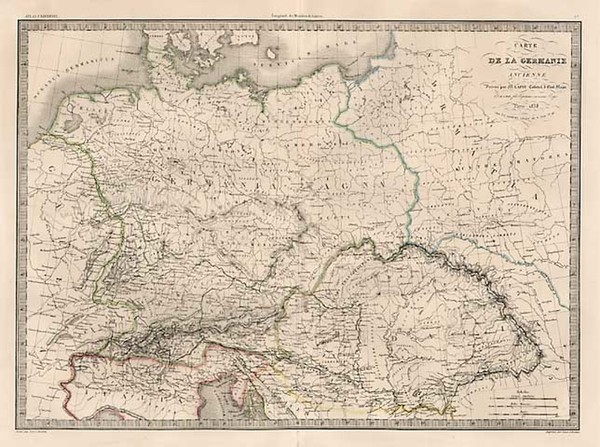 57-Europe, Europe, Germany, Austria and Poland Map By Alexandre Emile Lapie