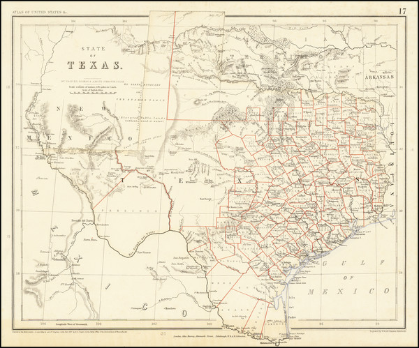 93-Texas Map By Henry Darwin Rogers  &  Alexander Keith Johnston