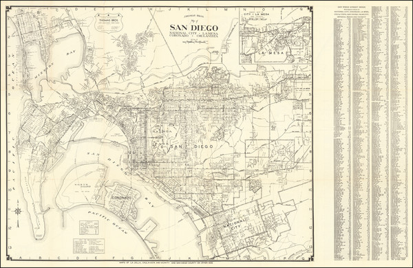 81-San Diego Map By Thomas Brothers