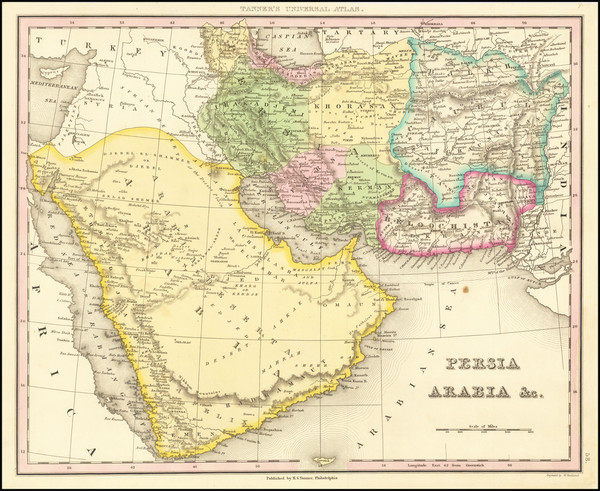 6-Middle East, Arabian Peninsula and Persia Map By Henry Schenk Tanner