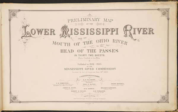 9-South, Louisiana, Mississippi, Midwest and Missouri Map By Smith S. Leach