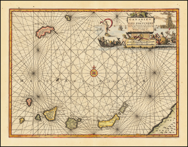 44-Portugal and African Islands, including Madagascar Map By Pieter van der Aa