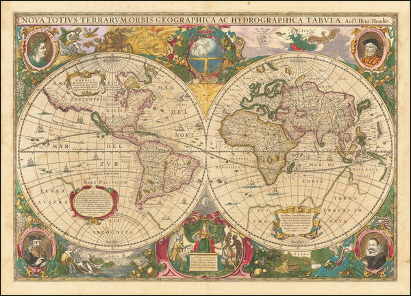 81-World Map By Henricus Hondius
