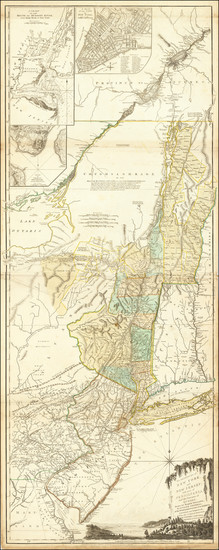 9-New England, Vermont, New York State, Mid-Atlantic, New Jersey and Canada Map By Sayer & Be
