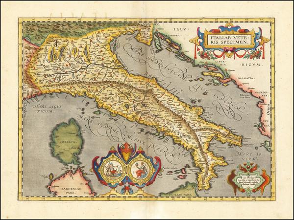 45-Italy Map By Abraham Ortelius