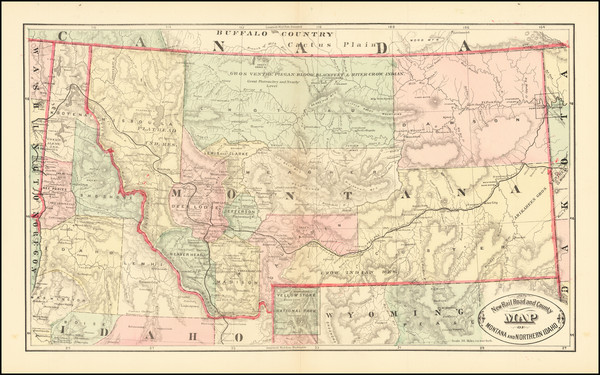 48-Montana Map By HS Stebbins