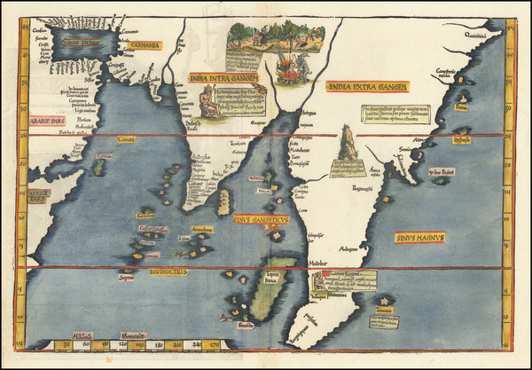 41-Indian Ocean, India, Southeast Asia and Indonesia Map By Lorenz Fries