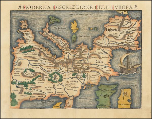 47-Europe Map By Sebastian Munster
