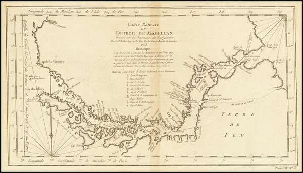 33-Argentina and Chile Map By Jacques Nicolas Bellin