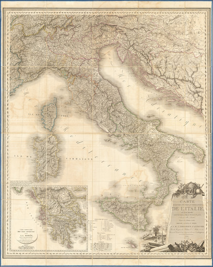 24-Italy Map By J. A. Orgiazzi