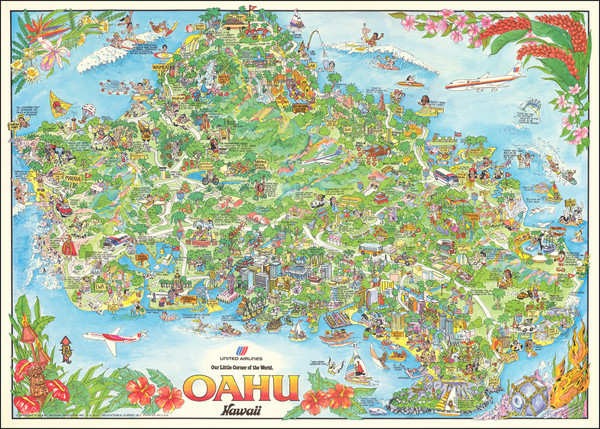 36-Hawaii, Hawaii and Pictorial Maps Map By Kim Forrest